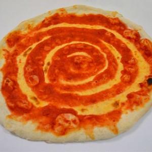 Base redonda con tomate 28-30 cm Caja 30 uni