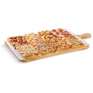Pizza Cuadrada Romana 4 Quesos 60x40 cm. Caja 6 und