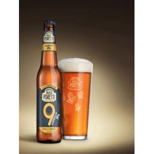 Cerveza Poretti 9 luppolli American.c/24x33cl.