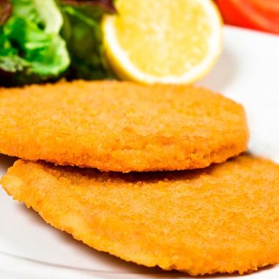 Hamburguesa de pollo rebozada 100gr. Halal Caja 4kg