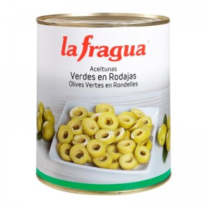 Aceitunas Verdes Laminadas Lata 3kg