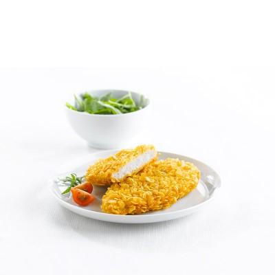 Pechuga de pollo crujiente 125gr. Caja 3kg