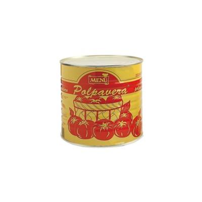 """Pulpa de tomate """"polpavera fina"""" corte fino. Caja 6x2.5kg."""