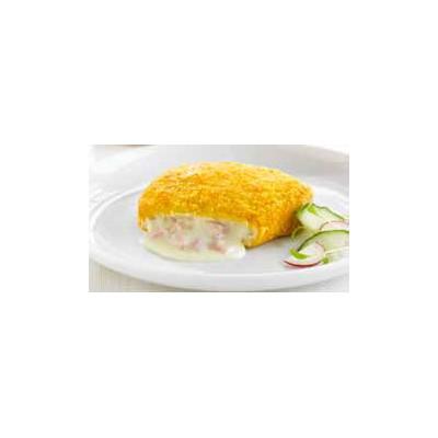 Pollo Crujiente relleno de jamón y queso125 gr.C/3kg