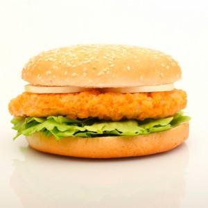 Hamburguesa de pollo rebozado 75gr. Halal Caja 5x1kg